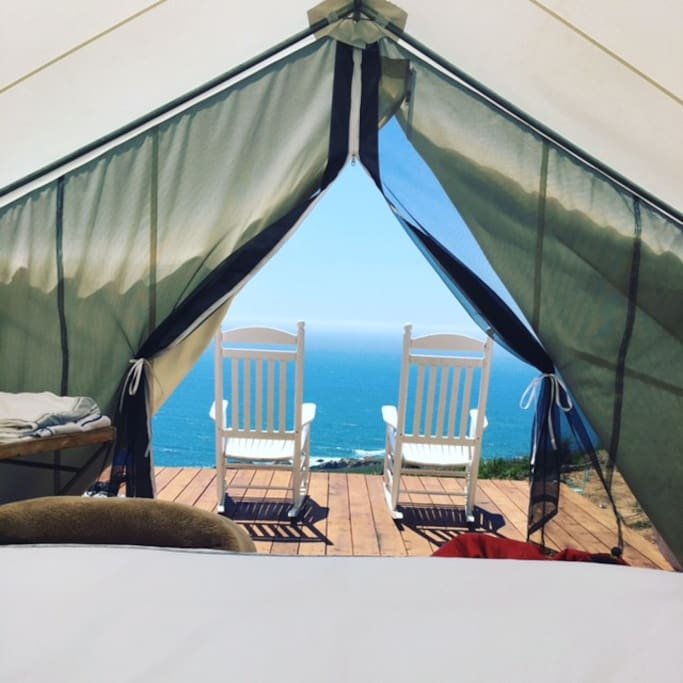 Every tent has an ocean view