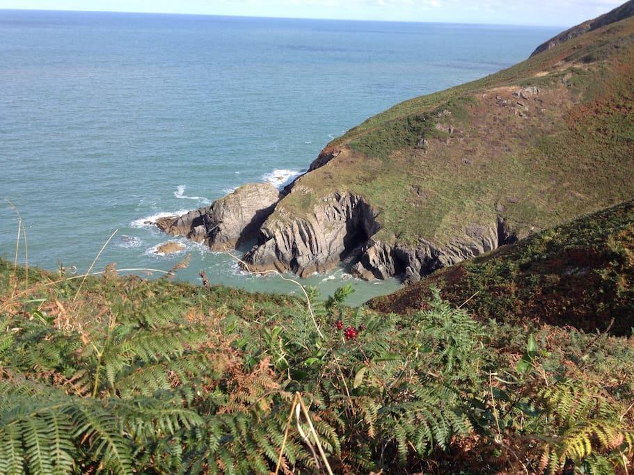 Coastal path, Parcllyn to Mwnt