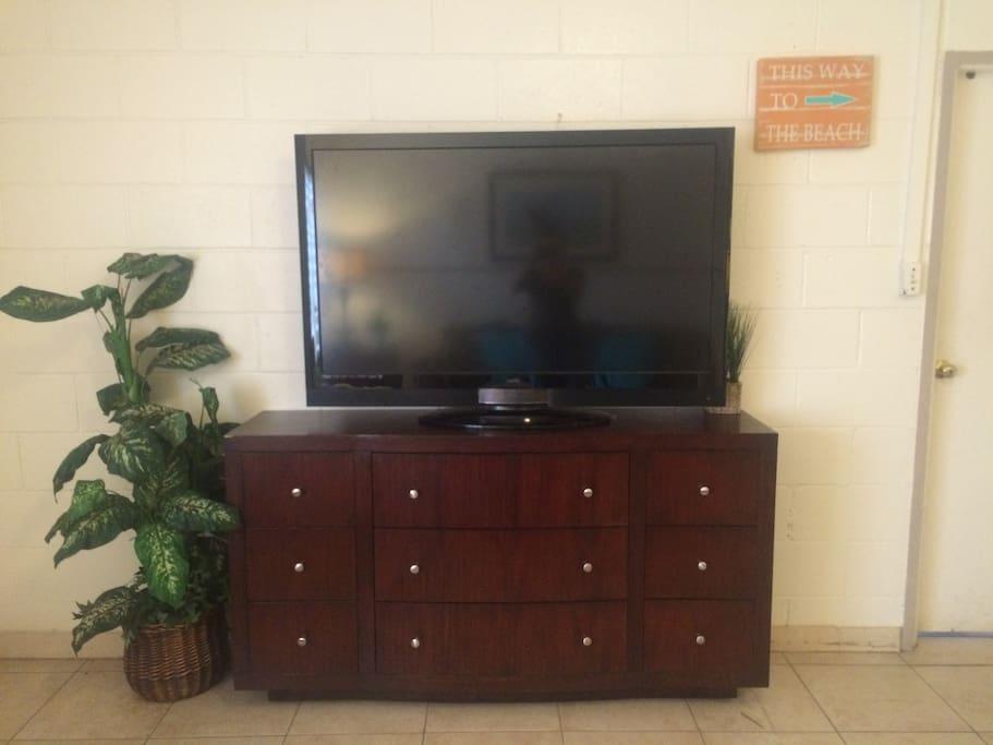 "50""TV in Living room"