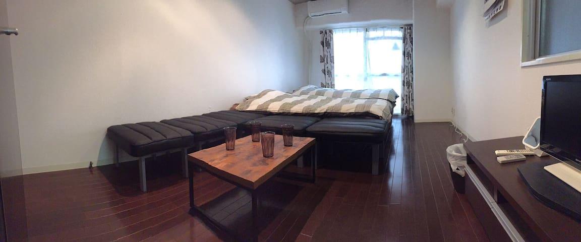 KK4-8 MAX6ppl!! Cool Room!! Shinsaibashi 5min!! - Chuo Ward, Osaka - Departamento