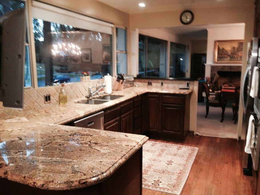 Enjoy your morning coffee or tea and a light breakfast in the kitchen area.