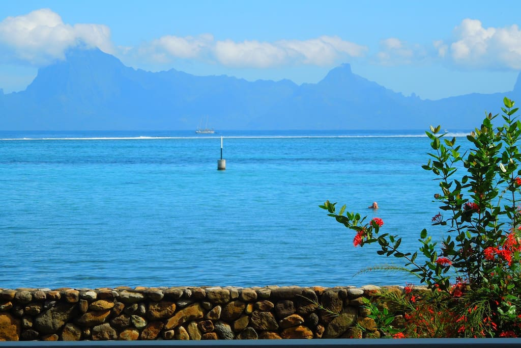 Million dollar view on Moorea island