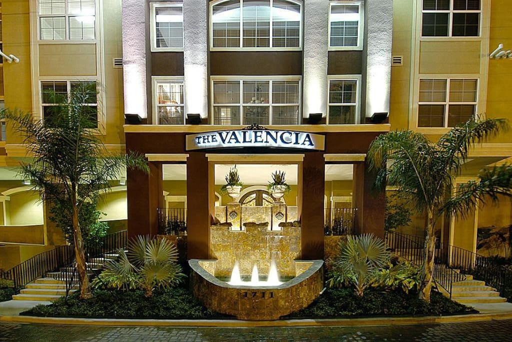 The Valencia. Only a 5 minute walk or metro-rail ride to NRG stadium.