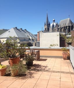 Roof terrace Dome view appartment - Aachen - Pis