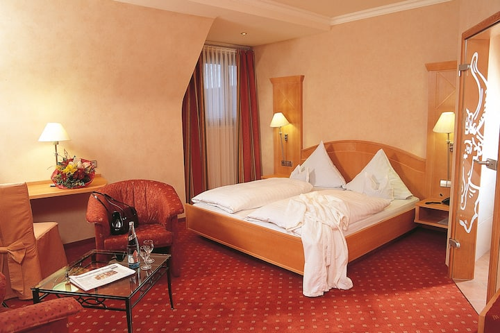 Hotel Ochsenwirtshof, (Bad Rippoldsau-Schapbach), Doppelzimmer Komfort mit Dusche und WC
