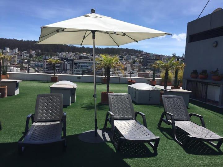 Turco, hidromasaje, sauna, piscina.Hermosa terraza
