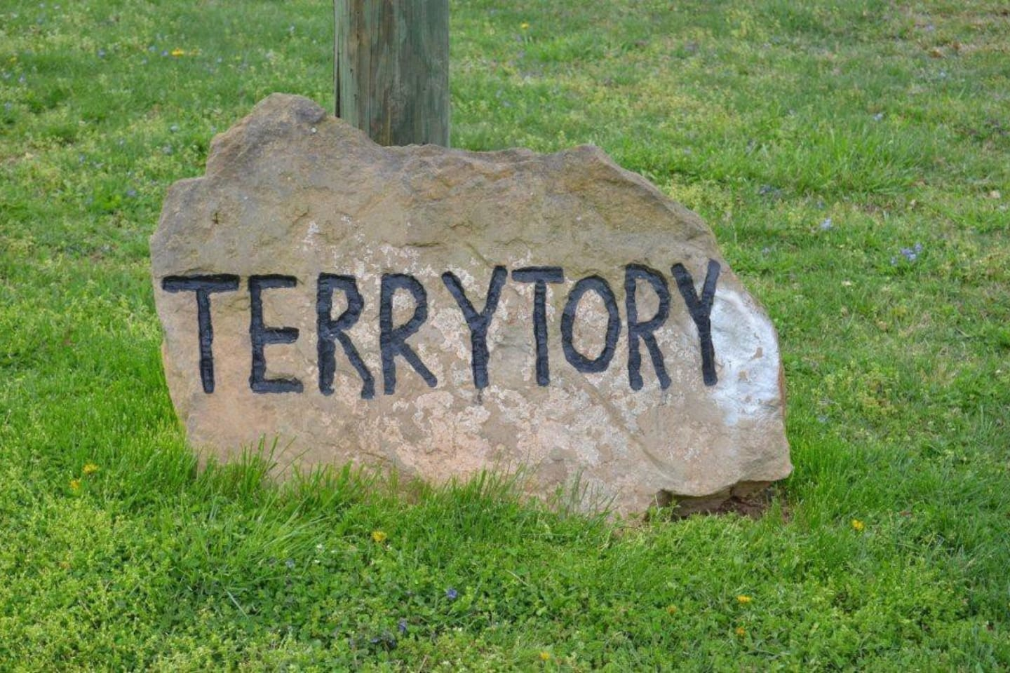 She named it Terrytory Cottage...because I am Terry.    When you see the rock you have arrived.  You have about 2.6 acres of privacy, huge yards, short hikes or bike in the back yard.