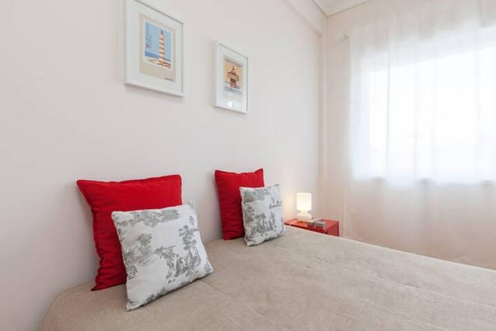 Confortable double room at Fonte da Moura