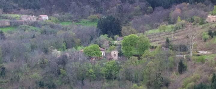 Ardèche verte : chambre d'hôte en pleine nature