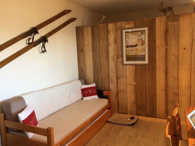 Charmant appartement de montagne, chambre, balcon! - Font-Romeu-Odeillo-Via - Appartement en résidence