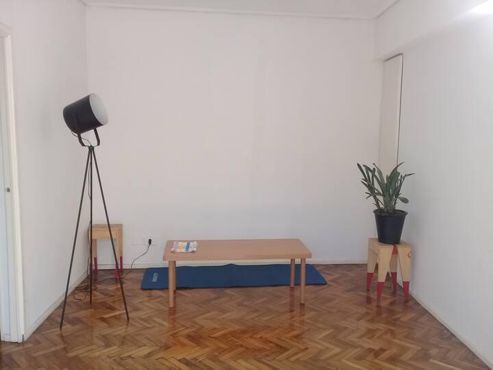 Apartamento minimalista de 1 dormitorio en Palermo