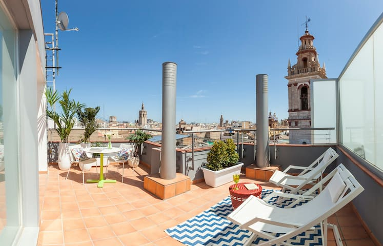 Penthouse w/ terrace in city center-Caballeros III - València - Wohnung