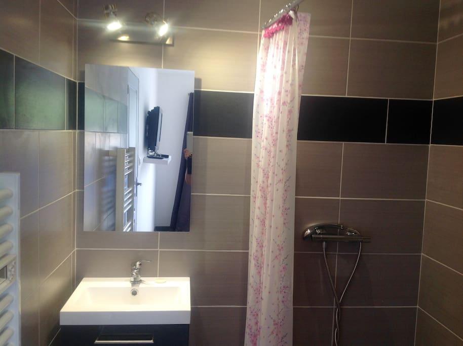salle de bain et dressing chambre parentale