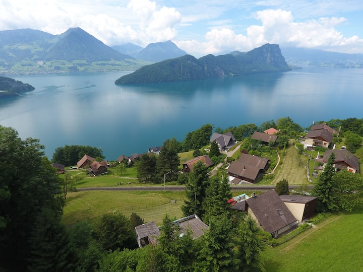 Two villas  at Lake Lucerne - side by side