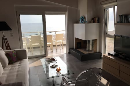 Apartement with Aegean sea view - Agia Anna - Huis
