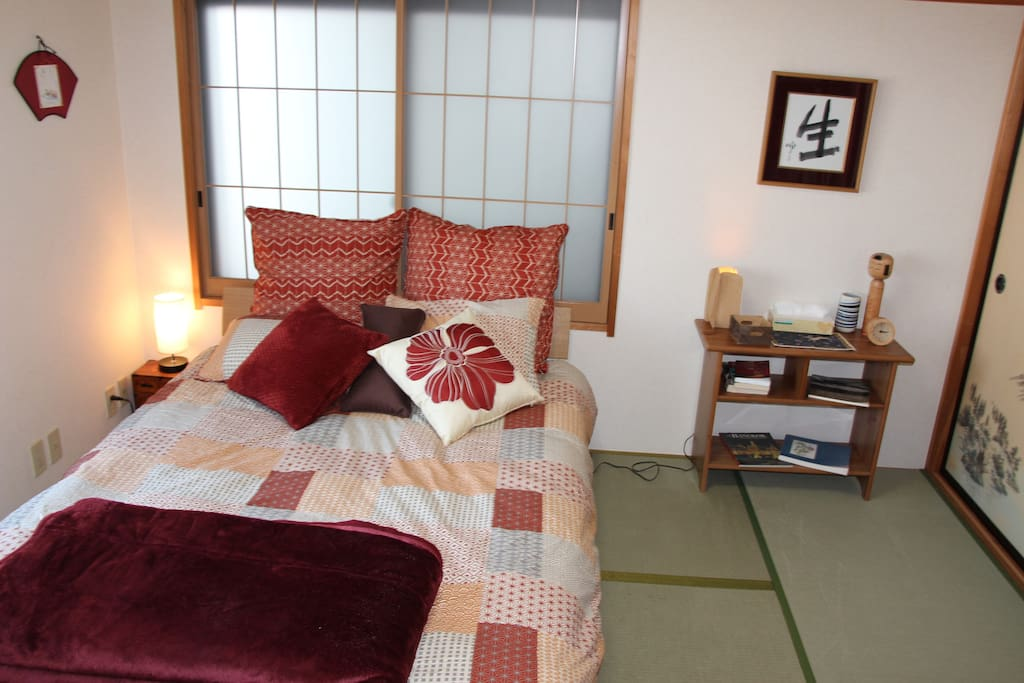 1st Floor Japanese Bedroom#1 - Double Bed, A/C.