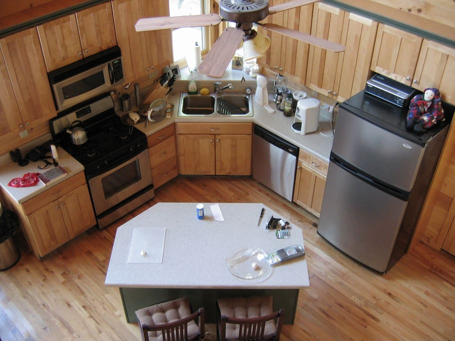 kitchen view from loft master; new divine r/f (shown in another photo)