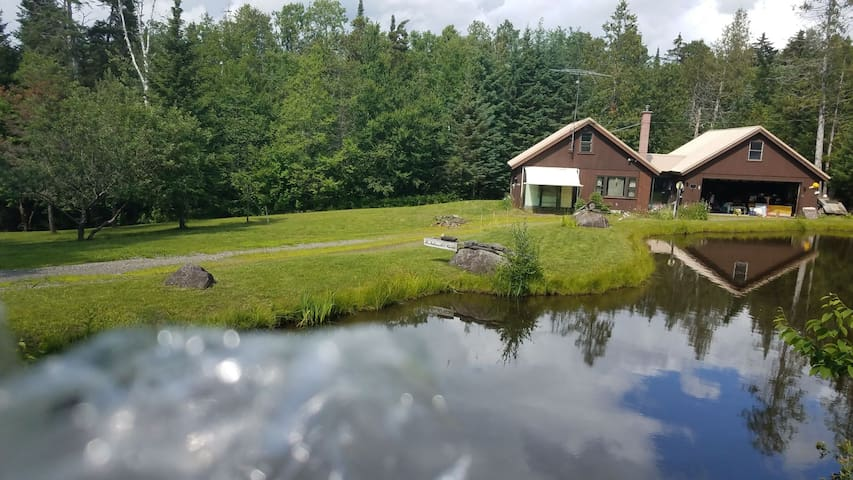 Private home on 6 acres w/ snowmobile trail access