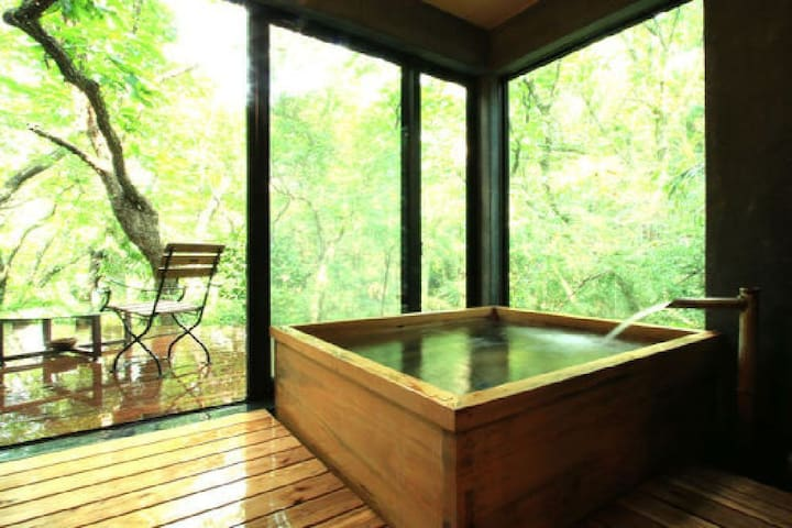 Aso luxury inn, with outdoor bath and rocky bath (81 m²) [Meals included)【With meal】 阿蘇の高級旅館,露天風呂と岩盤浴付き(81㎡)【朝食・夕食付】