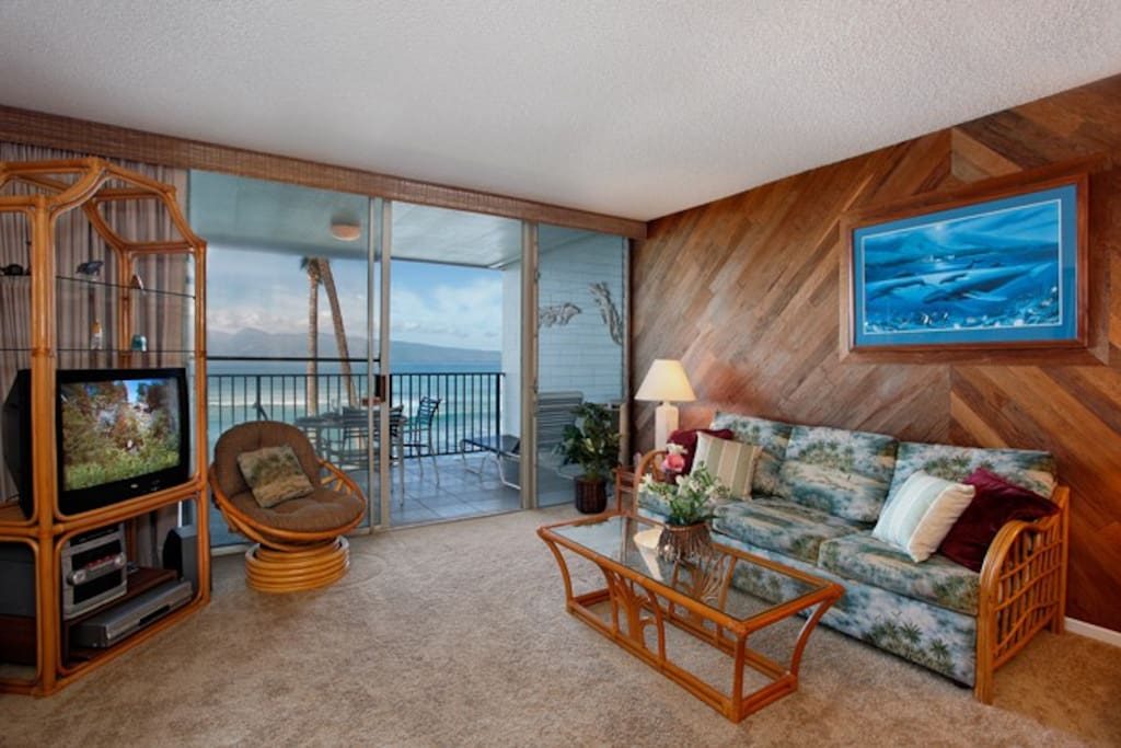 You'll find all the comforts of home right here in our tropical paradise. Relax with your morning coffee and watch the whales play just offshore in the winter