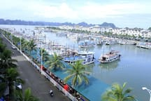 Tuan Chau harbour, where you start your journey to majestic Halong Bay.
