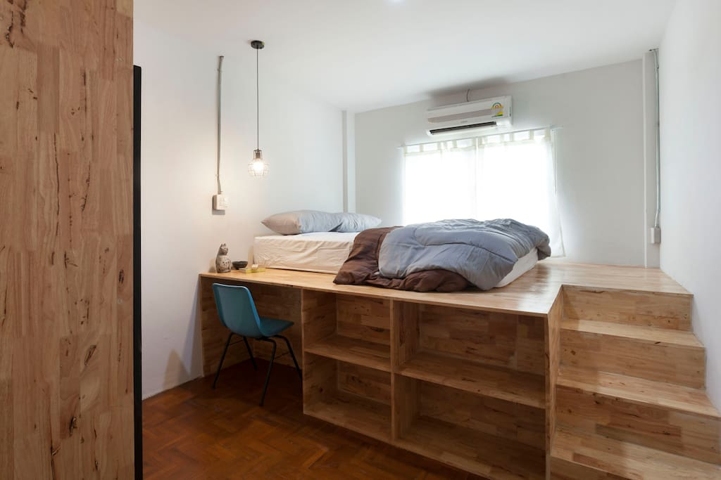 Small Bed Room 1  with stair and working corner
