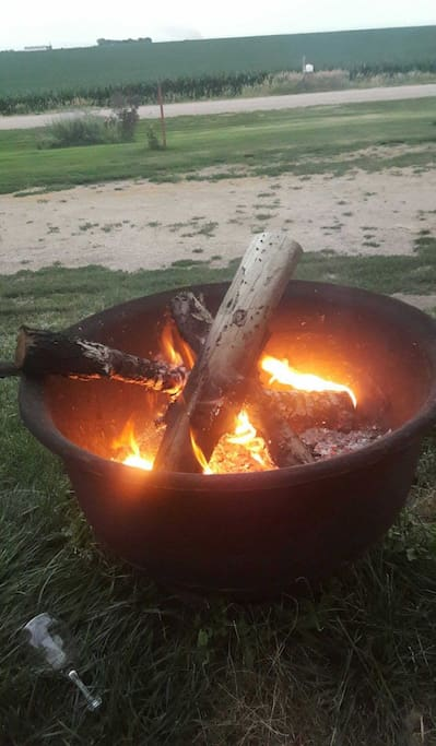 Share some good conversation around the firepit.