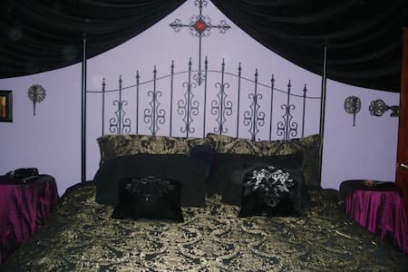 Private Gothic bedroom and bath. - Harvey