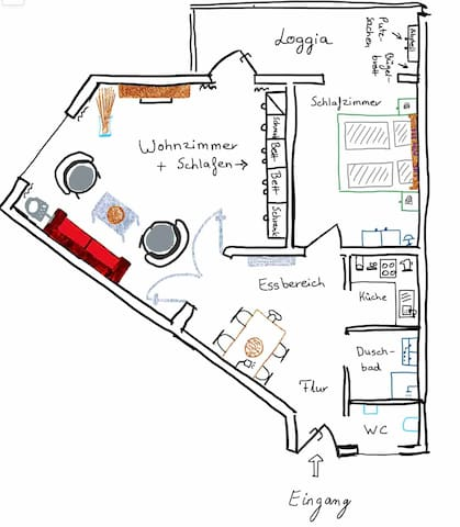 Free painted floor plan