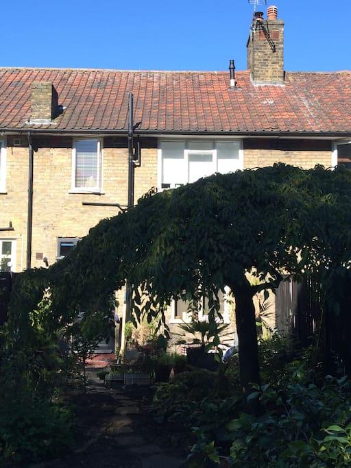 Garden facade