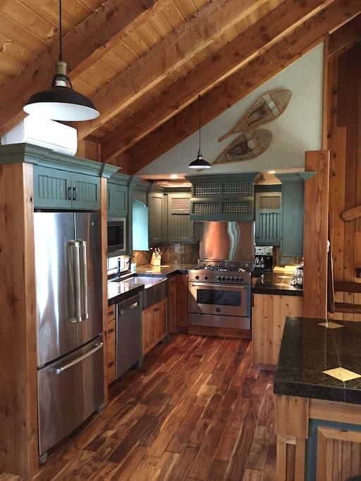 Gourmet kitchen with prep island