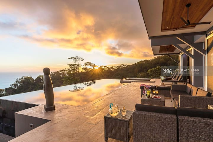 Sunsets Reflected In the Large Pool