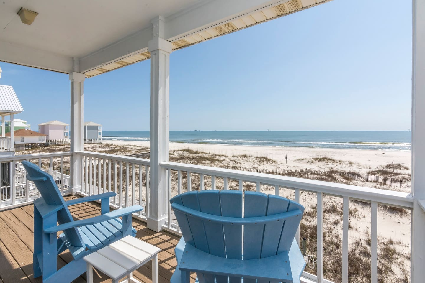 The best beachfront living you can get on the Ft Morgan Peninsula