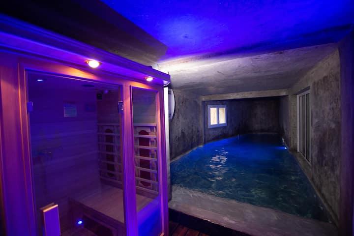 T3 de 70m2 avec sauna, piscine intérieure chauffée