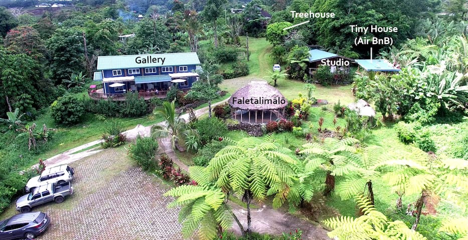The Tiapapata Art Centre Complex where there is a tiny house on Airbnb.