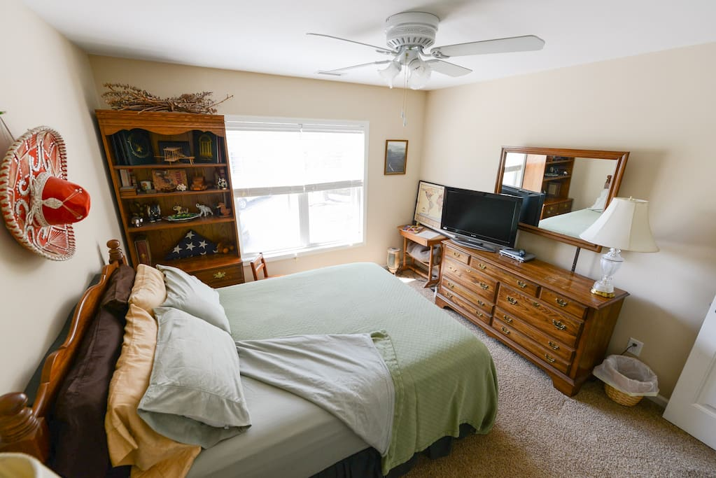 Spacious, comfortable 2nd floor guest bedroom.