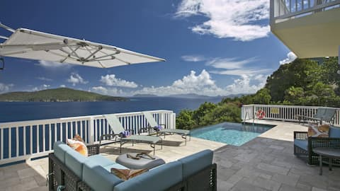 5BR stunning views, just mins. from Magen's Bay!
