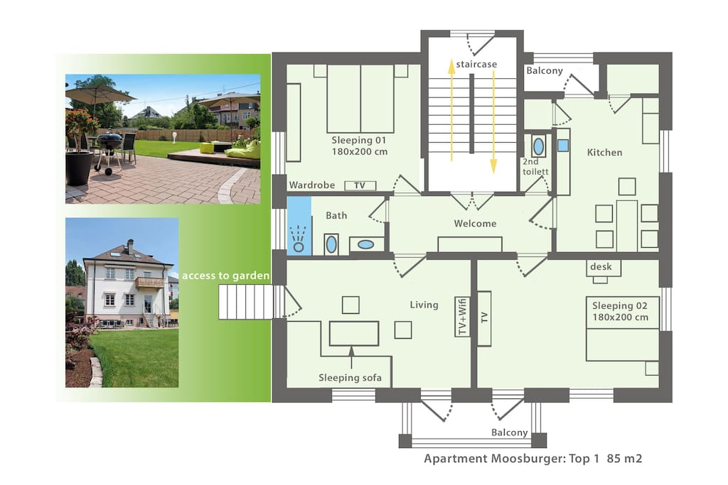 Grundriss Top 1 / Floor plan Top 1