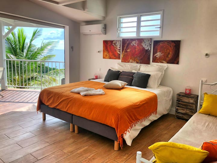 Exotik cottage for 3 people, sea view, jacuzzi
