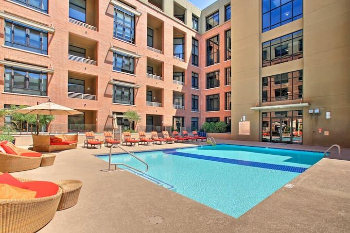 Hop in the community pool to beat the Arizona sunshine.