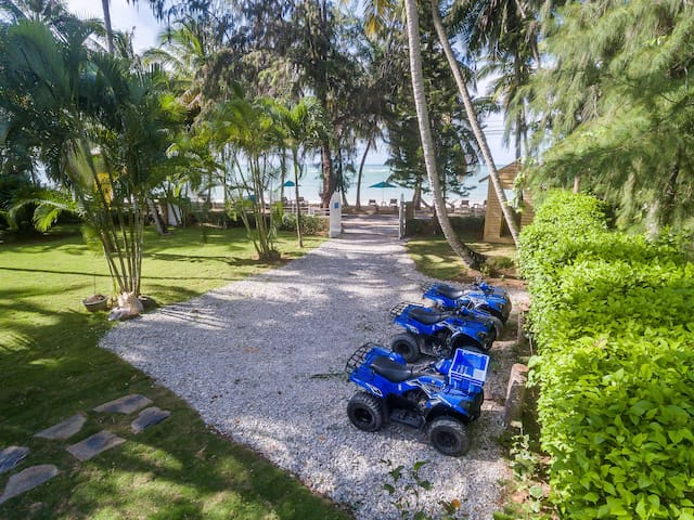 Four wheels available for daily rentals, beach front paradise.