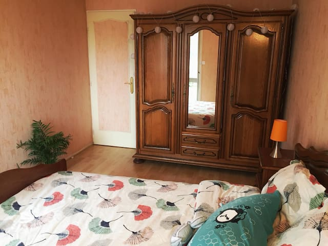Private bedroom with balcony in a 69m2 apartment