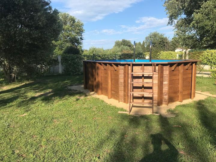 Chalet Argeles 4/6 personnes avec piscine privée
