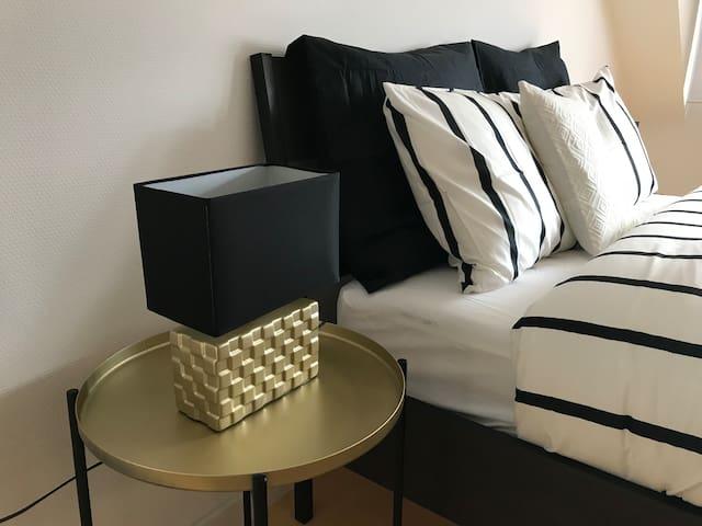 Gold & Black Luxury Bedroom