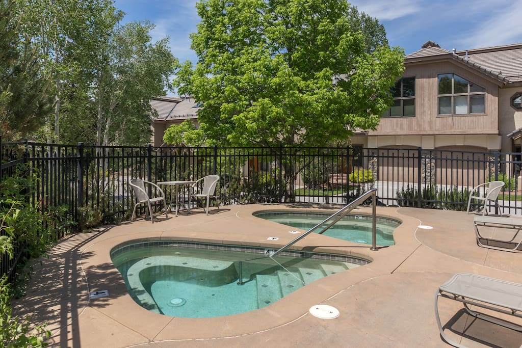Take a dip in the onsite hot tub.
