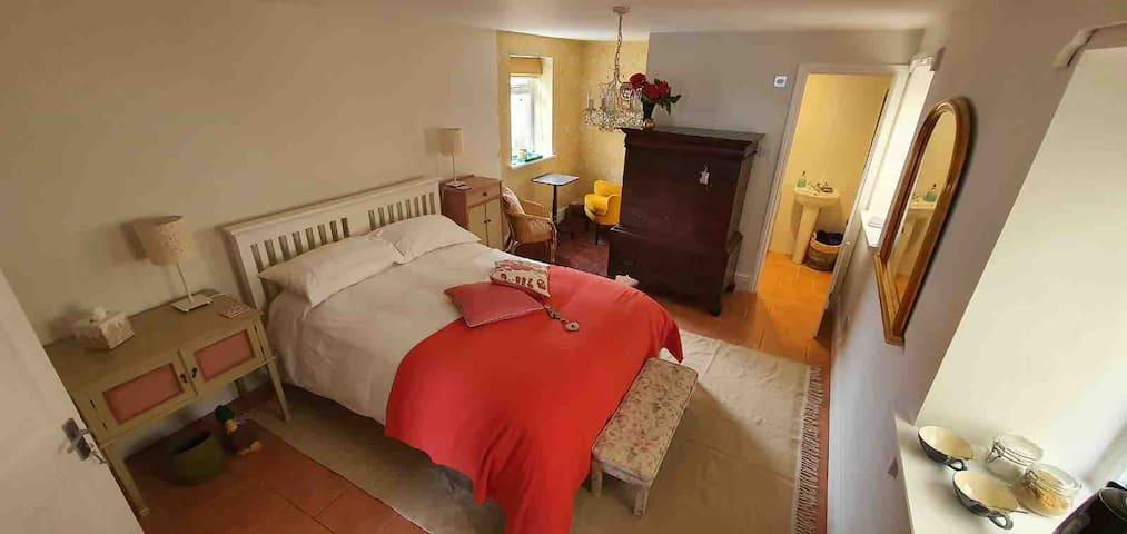 Your double en-suite room is on the first floor.