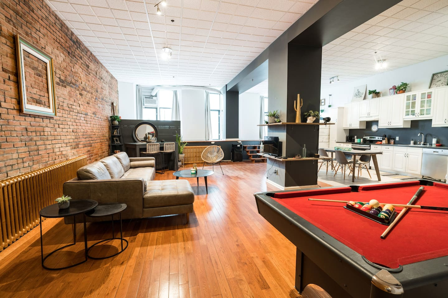 Open concept loft in Old Montreal