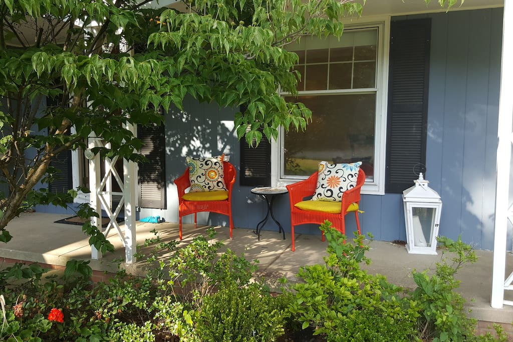 Relax on the beautiful front porch