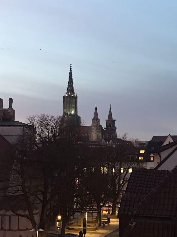 Moderne Wohnung mit Blick auf das Ulmer Münster