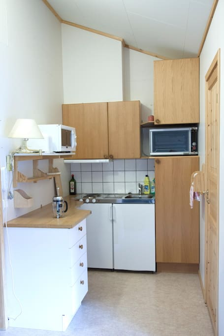 A fully equipped, private kitchen